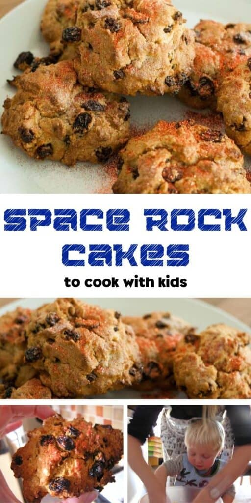 Space rock cakes to cook with kids