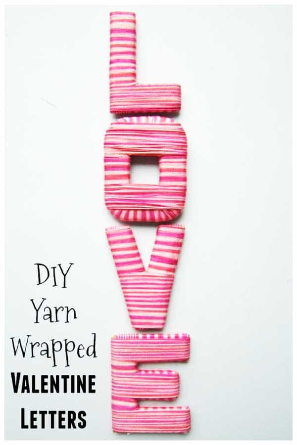 DIY Yarn Wrapped Letters to Spell LOVE