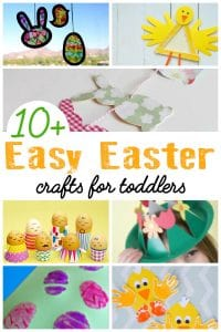 Try your hand at these easy Easter crafts for toddlers that you can do together to create some eggs, bunnies and chicks.
