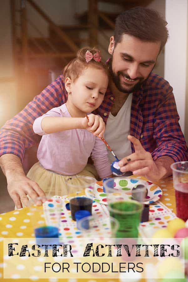 Easy Easter Activities for Toddlers, with Easter Crafts including some Christ Centered ones and recipes to bake together.