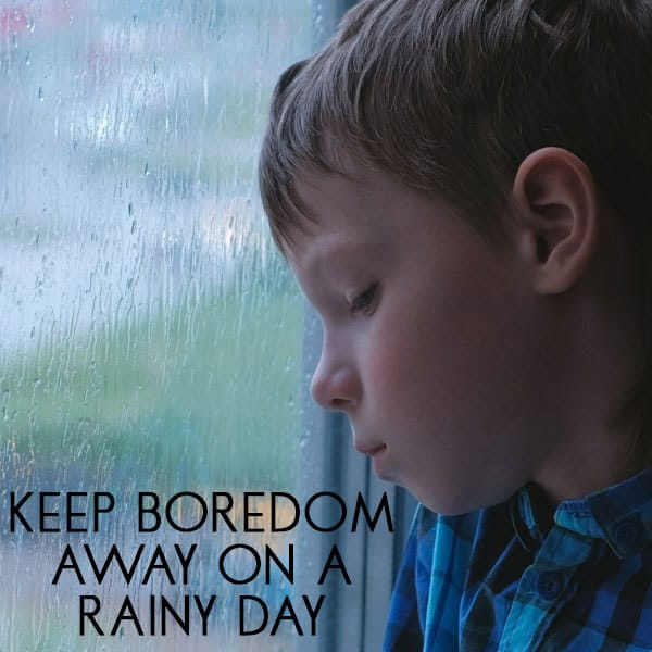 Ideas for fun and simple rainy day activities to keep boredom at bay for kids. Lots of indoor and outdoor activities to do to keep boredom at bay.