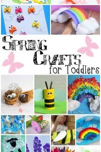 Easy, simple spring crafts for toddlers to make and do with you at home so that you can get creative together all season long.