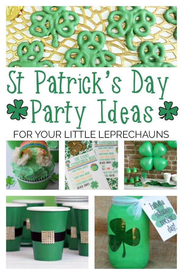 Celebrate St Patrick's Day with your little leprechauns by throwing a party with these 10 simple DIY ideas that will make it go with a bang!