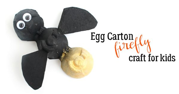 firefly made from egg cartons a simple summer craft for kids