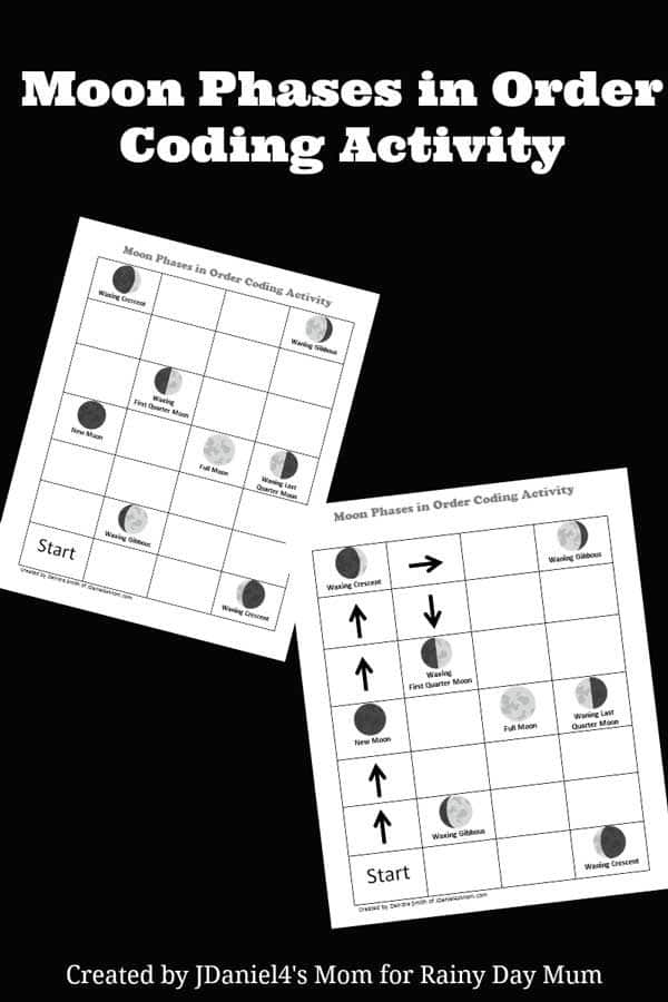 code the moon simple kids coding activity