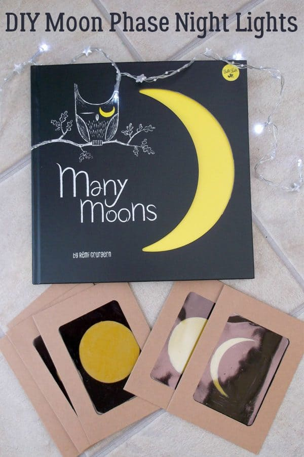 diy phases of the moon night lights