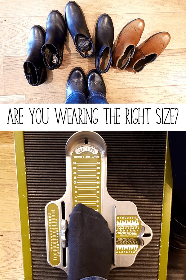 Are you wearing the right size shoes?