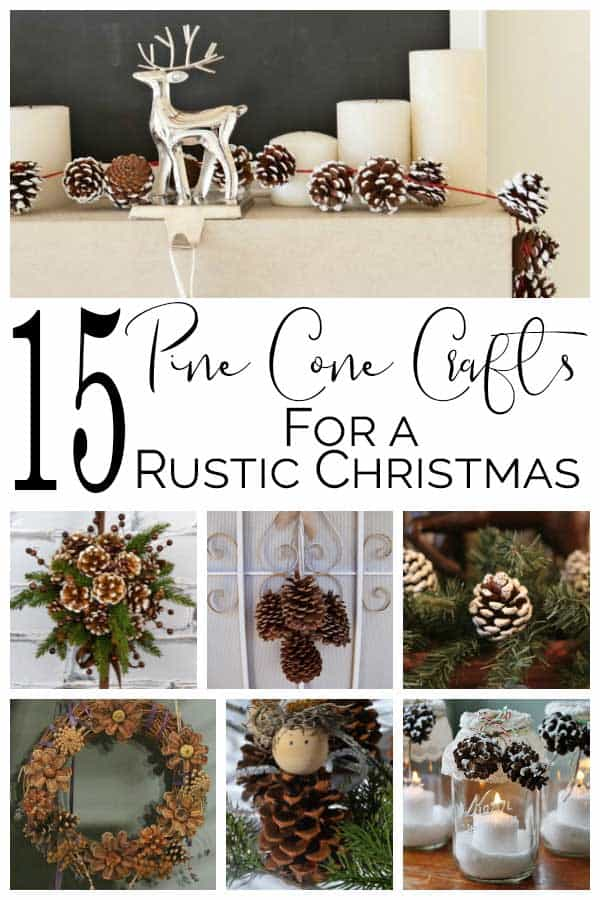 Beautiful Pine Cone Crafts to Decorate for Christmas
