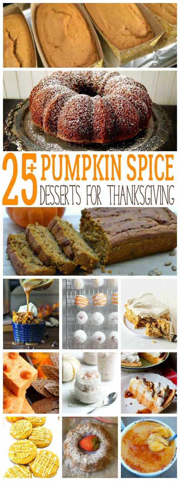 Get stocked up on Pumpkin Spice and Puree as these delicious dessert recipes will inspire you to bake and help you meal plan for Thanksgiving and fall.