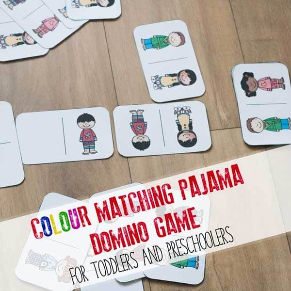 Download and Print this colour matching pajama game inspired by the book Llama Llama Red Pajama ideal to play with toddlers and preschoolers. #toddler #preschooler #vbcforkids #llamallamaredpajama #rainydaymum #toddleractivity #preschoolactivity