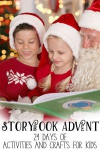 Countdown to Christmas with a storybook advent, 4 weeks of classic children's Christmas books with crafts, activities, and more.