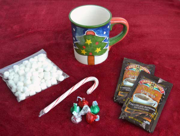 Easy for kids to make Hot Cocoa Gift inspired by the classic British Christmas storybook The Jolly Christmas Postman by Janet and Allan Ahlberg.