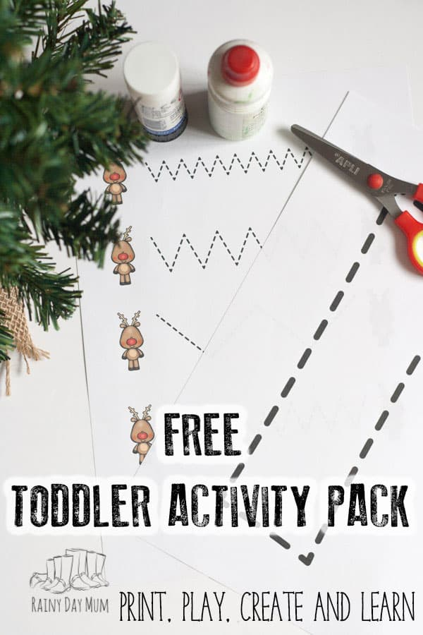 Rudolph and Reindeer Toddler Activity Pack