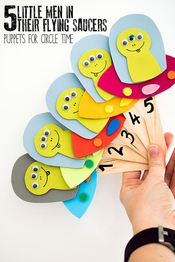 Five Little Men in Their Flying Saucers Puppets