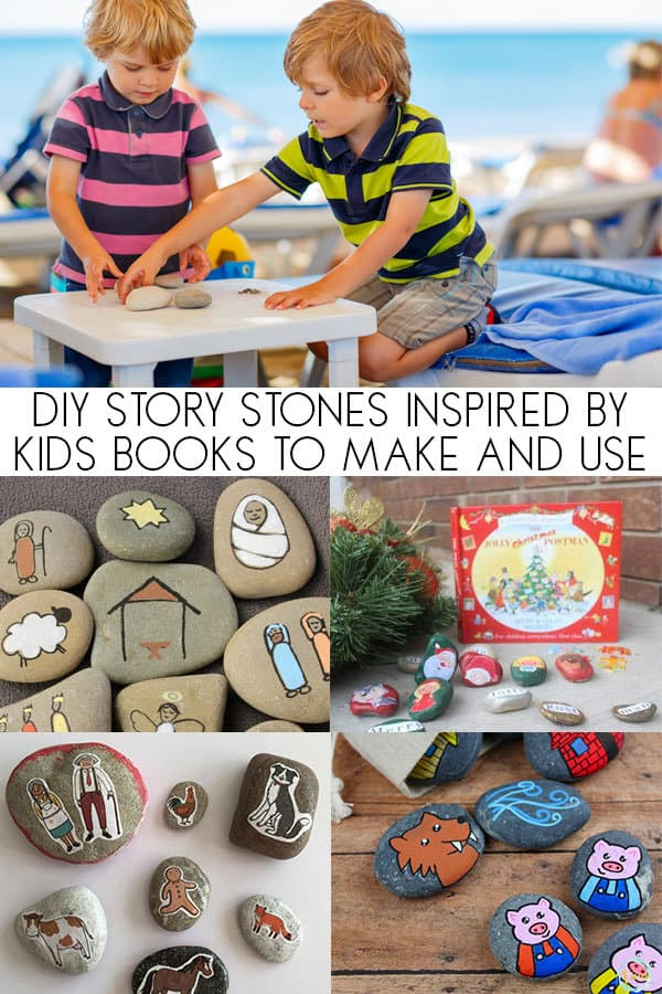 DIY Story Stones Inspired by Books for Toddlers and Preschoolers