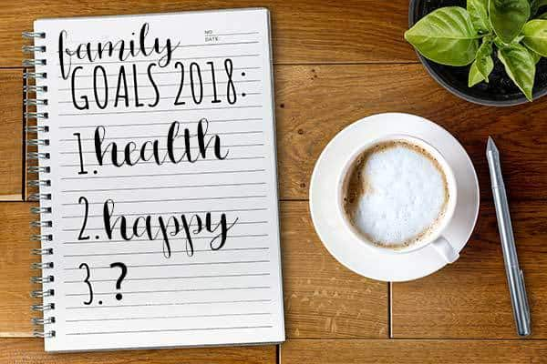 Ideas and inspiration for making 2018 your family's year with family goals that you can work towards