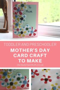 toddler and preschooler mothers day card craft to make