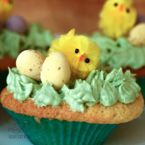 A simple recipe for cupcakes ideal for Easter to make with kids, add some green vanilla buttercream frosting and Cadbury mini eggs you have some delicious and cute Easter cakes to share perfect for you or the school bake sale.