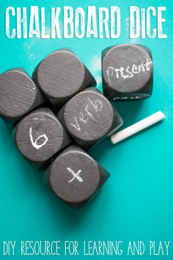 DIY Chalkboard Dice for Learning and Play