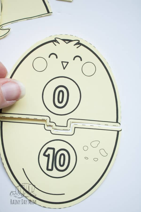 egg and chick matching number bonds free printable