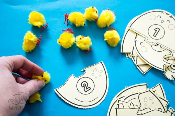 number bond puzzles for easter