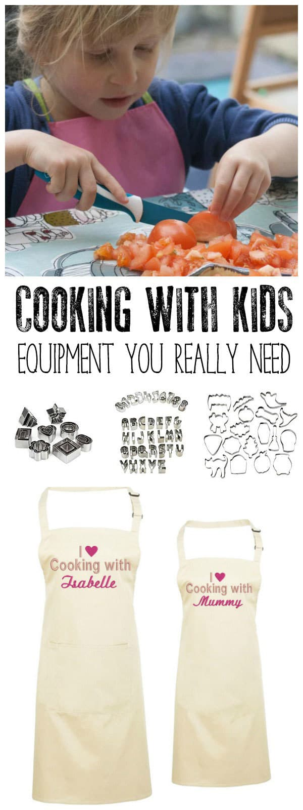 With so many gadgets and gizmos around what equipment is actually needed for cooking with kids. Find our essentials, they are nice and some little ideas that make time in the kitchen with kids a little bit easier for all.