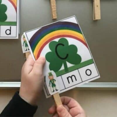 St. Patrick's Day Lower and Uppercase Letter Matching Game for Preschoolers