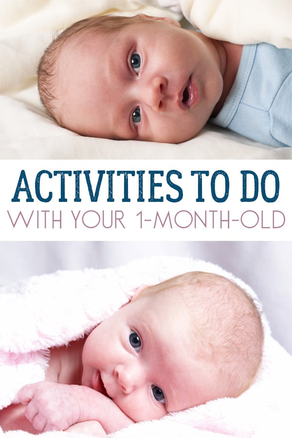 Engage their senses and support your 1-month-old babies development with these simple activities that you can do with them at home.