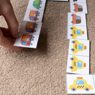 Key Workers' Transport Picture Domino Game for Kids