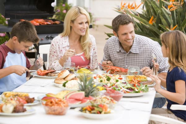 sit down together as a family for meals a great way to spend time together and create conversations