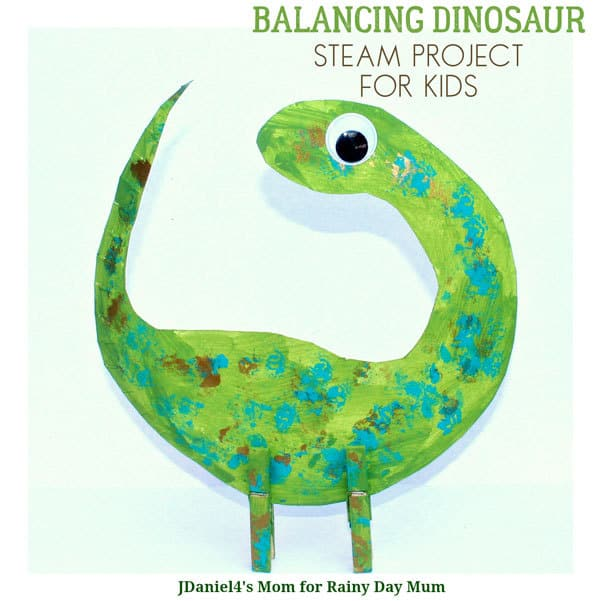 can you balance a dinosaur paper plate craft for kids