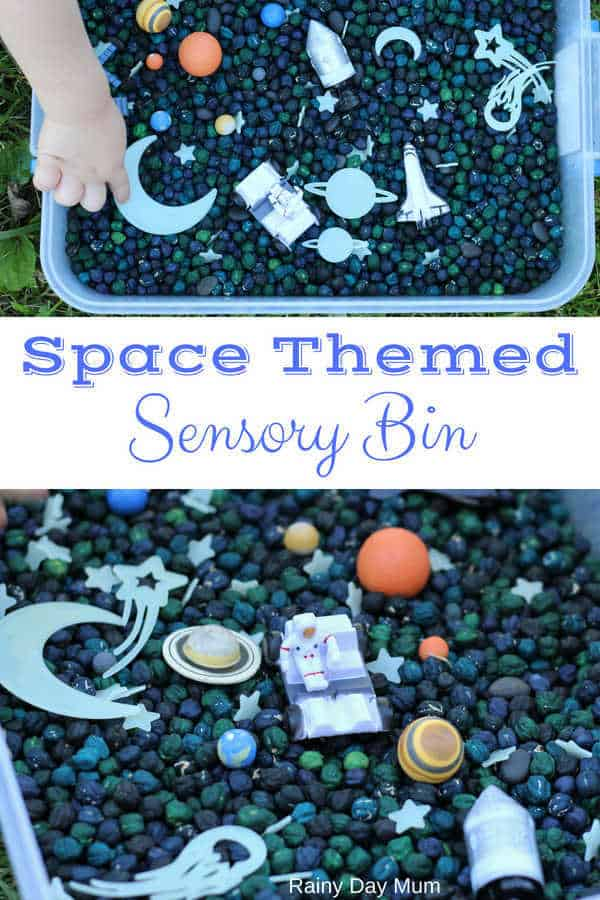 Space-theme play activity for toddlers and preschoolers