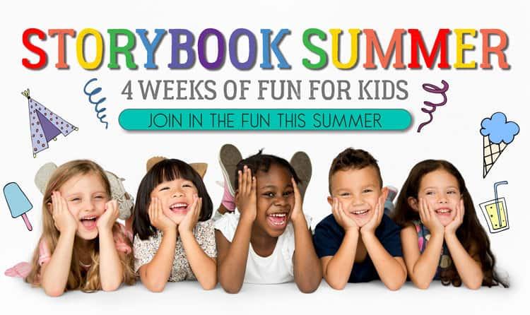 Storybook Summer 4 Weeks of book Based Activities for Kids this summer for FREE straight to your inbox
