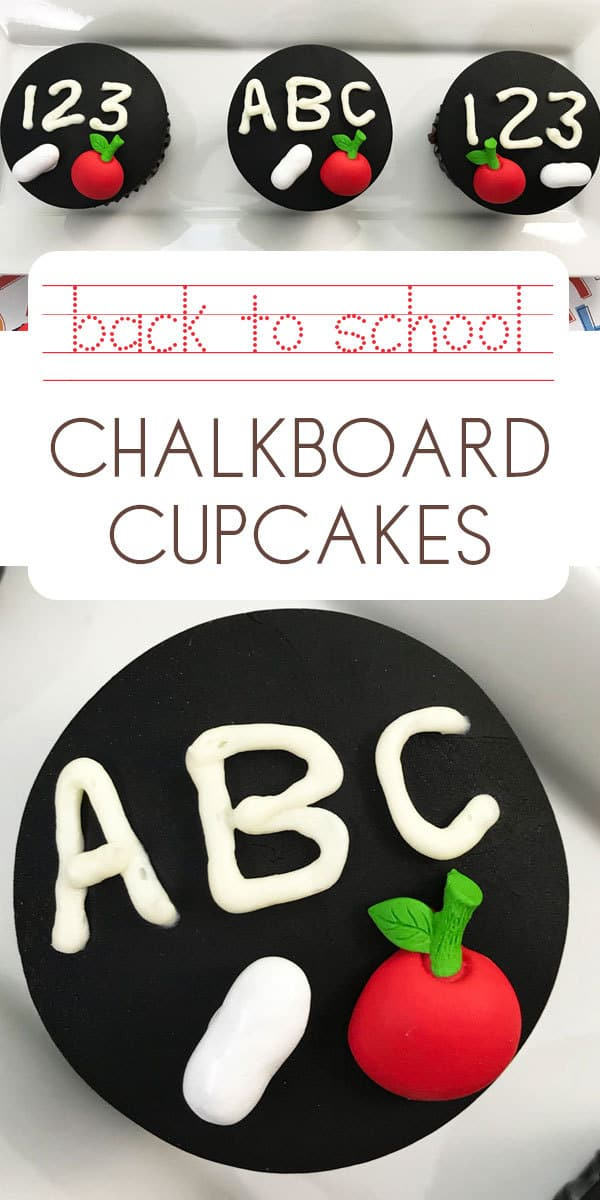 Back to School or End of School Year Party Cupcakes easy to make and simple to decorate