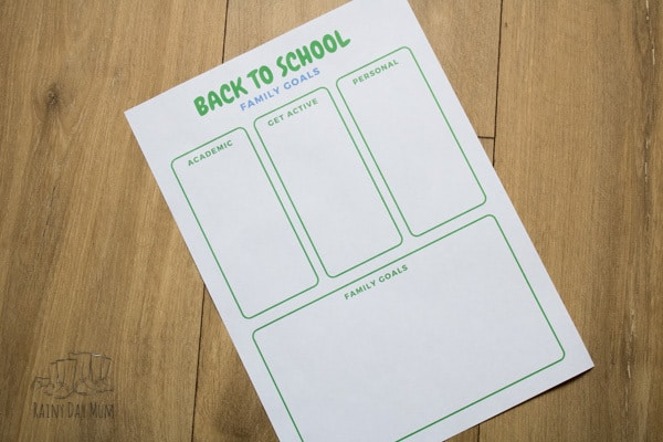 back to school goal setting for parents and kids
