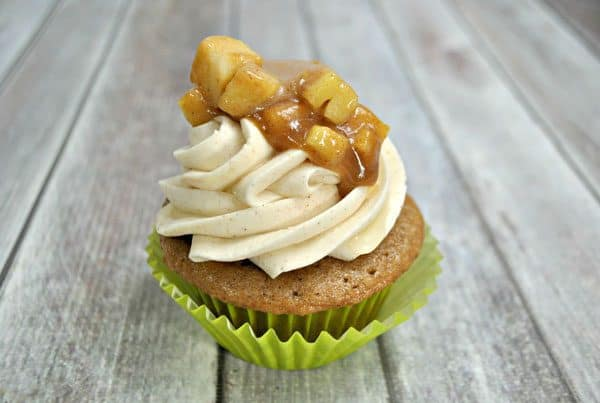 Autumn treats - apple pie spiced cupcakes with cinnamon buttercream frosting