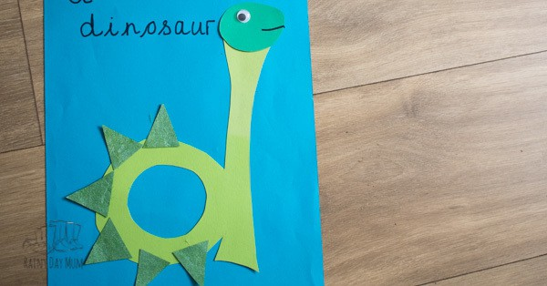 Letter of the week D is for Dinosaur page for an alphabet book