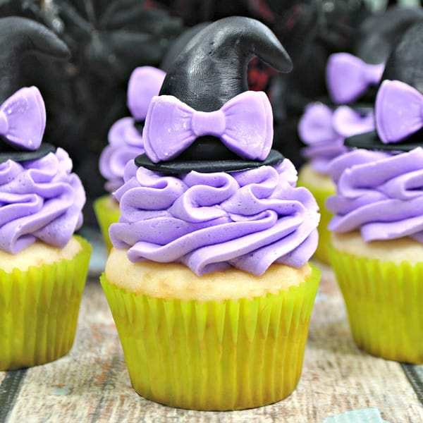 Simple to decorate pretty Halloween Cupcakes because not everyone wants a spooky Halloween Treat.