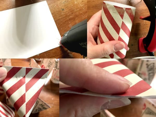 how to make your pockets for a DIY advent calendar with scrapbook paper