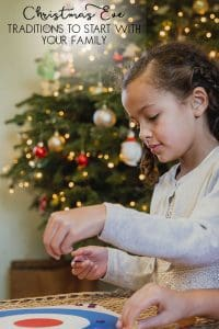 Christmas Eve traditions for families with older kids like playing board games and giving back to the community that you live in