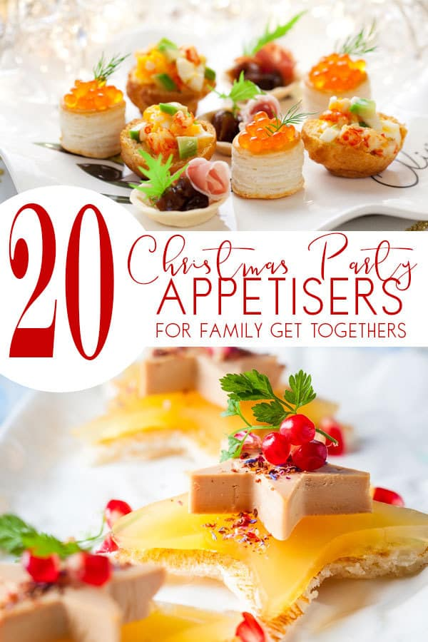 20 Christmas Party Appetisers for family parties that everyone will enjoy. Includes a section of fun food for kids that you can serve as well.