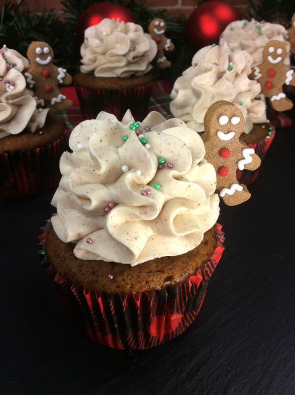 Yummy Gingerbread Men Cupcakes for Christmas