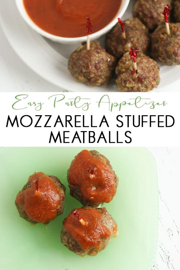 Simple recipe for Mozzarella stuffed meatballs that can be made in advance and reheated ideal for parties as a simple appetiser that everyone will love.