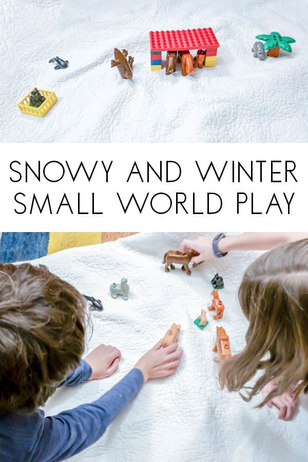 small world snowy and winter inspired by bear stays up for Christmas by Karma Wilson