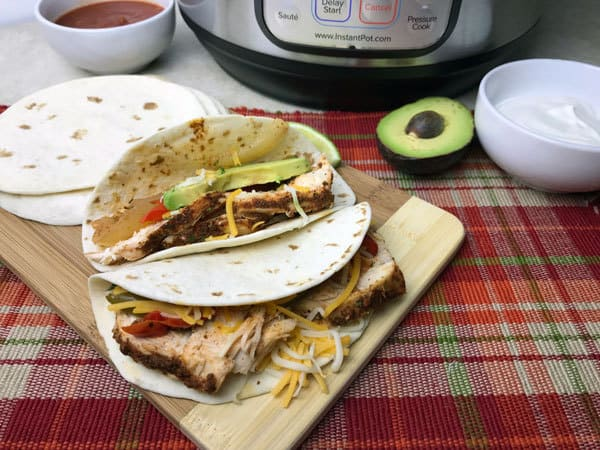 quick family meal chicken fajitas in the instant pot