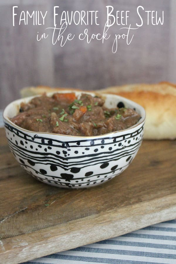 family favourite beef stew made in the slow cooker