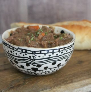 rustic beef stew in the slow cooker easy to make and tastes delicious perfect family comfort food for rainy and snowy days