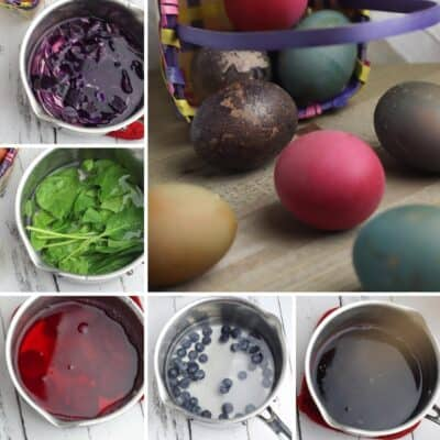 5 Recipes for Dying Easter Eggs with Homemade Natural Dyes