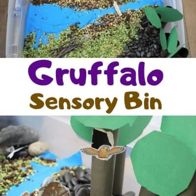 The Gruffalo Inspired Sensory Bin for Toddlers and Preschoolers