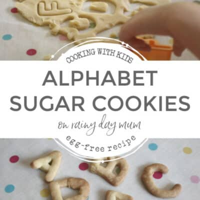 Alphabet Cookies to Cook with Kids (Egg-Free) Recipe